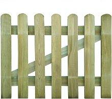 Garden Gate FSC Wood 100x80 cm - Hommoo