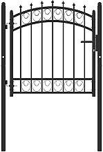 Garden Gate, Metal Swing Gate Outdoor Fence Gate