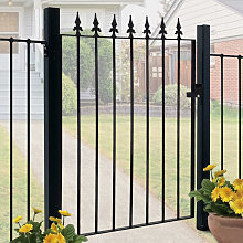 Garden Gate Wrought Iron 85x108cm - Black