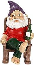 Garden Gnome Fairy Mini Chair Gnome Figures Statue