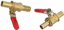Garden Hose Parts 2Pcs Brass 8mm 10mm Ball Valve