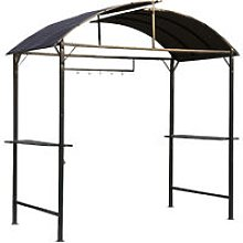 Garden Metal Gazebo BBQ Tent Grill Canopy Awning