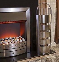 Garden Mile® 5PC Modern Chrome Fireside Tool Set