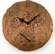 Garden Mile Vintage Rustic Butterfly Clock,