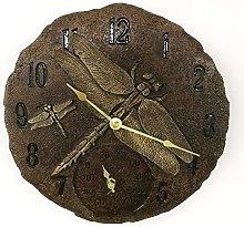 Garden Mile Vintage Rustic Dragonfly Clock,
