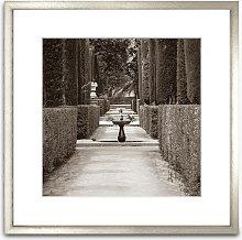 Garden Of The Poets Seville Wood Framed Print &