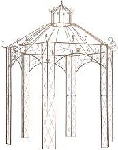 Garden Pavilion Antique Brown 3 m Iron VDTD29570 -
