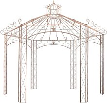 Garden Pavilion Antique Brown 4 m Iron QAH29571 -