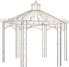 Garden Pavilion Antique Brown 4 m Iron VD29571 -