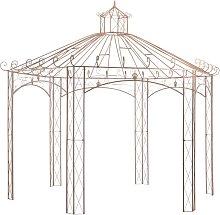 Garden Pavilion Antique Brown 4 m Iron VDTD29571 -