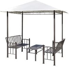Garden Pavilion with Table and Benches 2.5x1.5x2.4