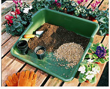 Garden Plastic Potting Plant Tray - Tidy Garden or