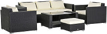 Garden Rattan Furniture 7 PCs Sofa Set Patio