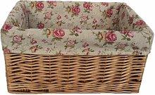 Garden Rose Willow Storage Wicker Basket Lily Manor