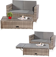 garden set, Poly Rattan, Lounge sofa set with