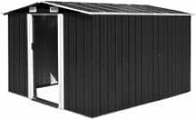 Garden Shed 257x298x178 cm Metal Anthracite