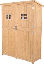 Garden Shed Tool Storage Cabinet Double Door
