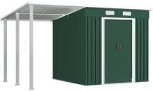 Garden Shed with Extended Roof Green 346x193x181