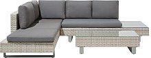 Garden Sofa Set 5 Seater Adjustable Coffee Table