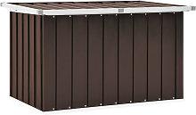 Garden Storage Box Brown 109x67x65 cm