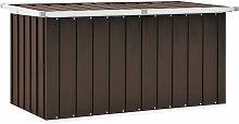 Garden Storage Box Brown 129x67x65 cm - Brown -