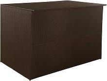 Garden Storage Box Brown 150x100x100 cm Poly
