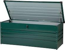 Garden Storage Box Green Steel Lockable Lid 600L