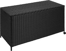 Garden storage box - rattan with aluminium frame -