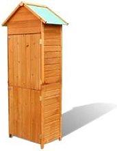 Garden Storage Cabinet Brown 79x49x190 cm - Brown