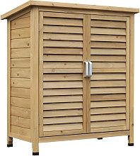 Garden Storage Unit Solid Fir Wood Organisation