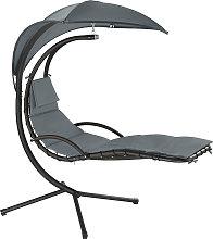 Garden swing chair Maja - grey