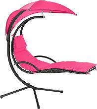 Garden swing chair Maja - pink