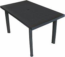 Garden Table Anthracite 126x76x72 cm Plastic