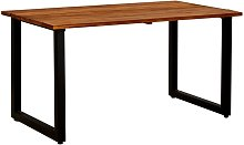 Garden Table with U-shaped Legs 140x80x75 cm Solid