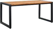 Garden Table with U-shaped Legs 160x80x75 cm Solid