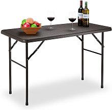 Garden Table, Wooden Look, Rectangular Folding