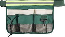 Garden tool belt bag, tool storage bag, green with