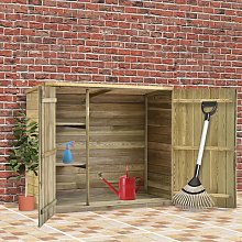Garden Tool Shed Impregnated Pinewood 135x60x123