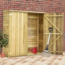 Garden Tool Shed Impregnated Pinewood 163x50x171