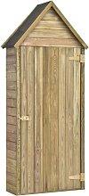 Garden Tool Shed with Door 77x37x178 cm