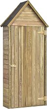 Garden Tool Shed with Door 77x37x178 cm