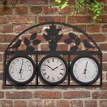 Garden Wall Clock - Black