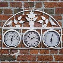 Garden Wall Clock - Cream