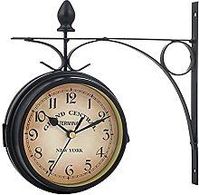 Garden Wall Mounted Clock Double Sided Clock