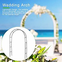 Garden Wedding Arch,Lightweight White Metal Arch