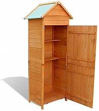 Garden Wooden Cabinet with 3 Shelves Waterproof