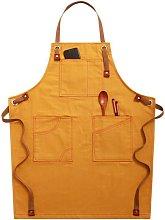 Gardening Apron Jeans Apron Household Apron Yellow