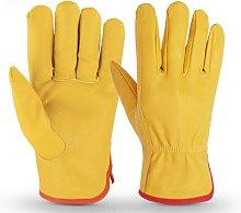 Gardening Tool Gloves Cowhide Work Gloves Driving