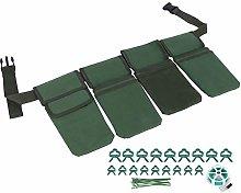 Gardening Tool Set, 4 Pockets Green Waterproof