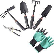 Gardening tools, 6 pieces set tool kit